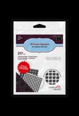 Scrapbook Adhesives 3D Foam Squares Black - Assorted