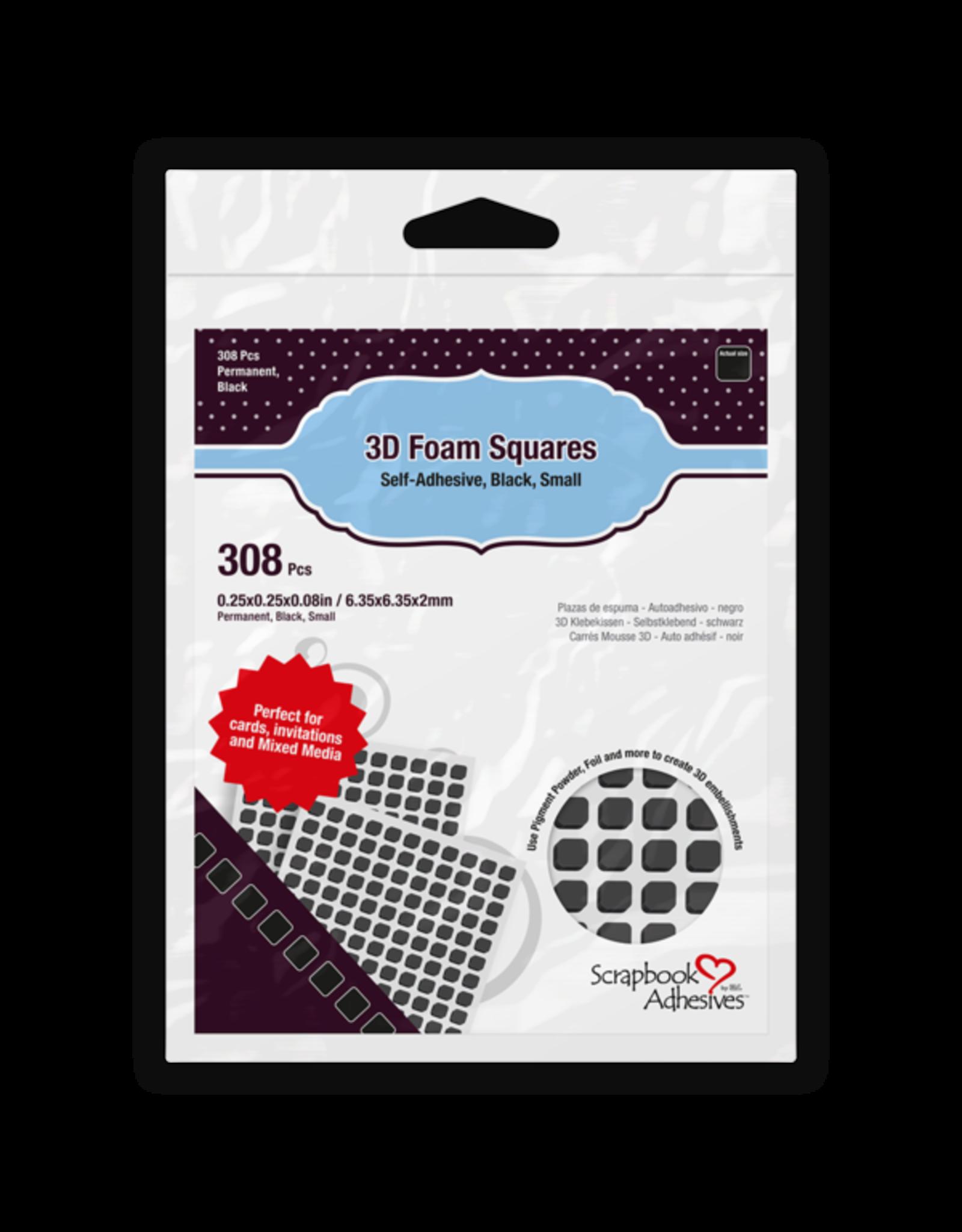 Scrapbook Adhesives 3D Foam Squares  Black - Small