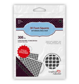 Scrapbook Adhesives 3D Foam Squares  Black - Small
