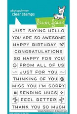 Lawn Fawn Simply Sentiments - Clear Stamp Set