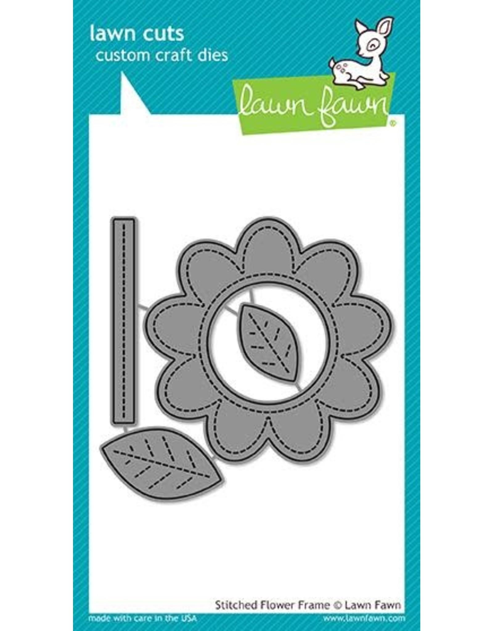 Lawn Fawn Stitched Flower Frame Die Set