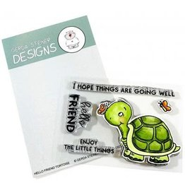 Gerda Steiner Designs Hello Friend Tortoise - Clear Stamp Set
