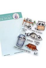 Gerda Steiner Designs Sneaky Racoons - Clear Stamp Set