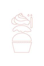 Honey Bee Stamps Cupcake Builder - Die Set