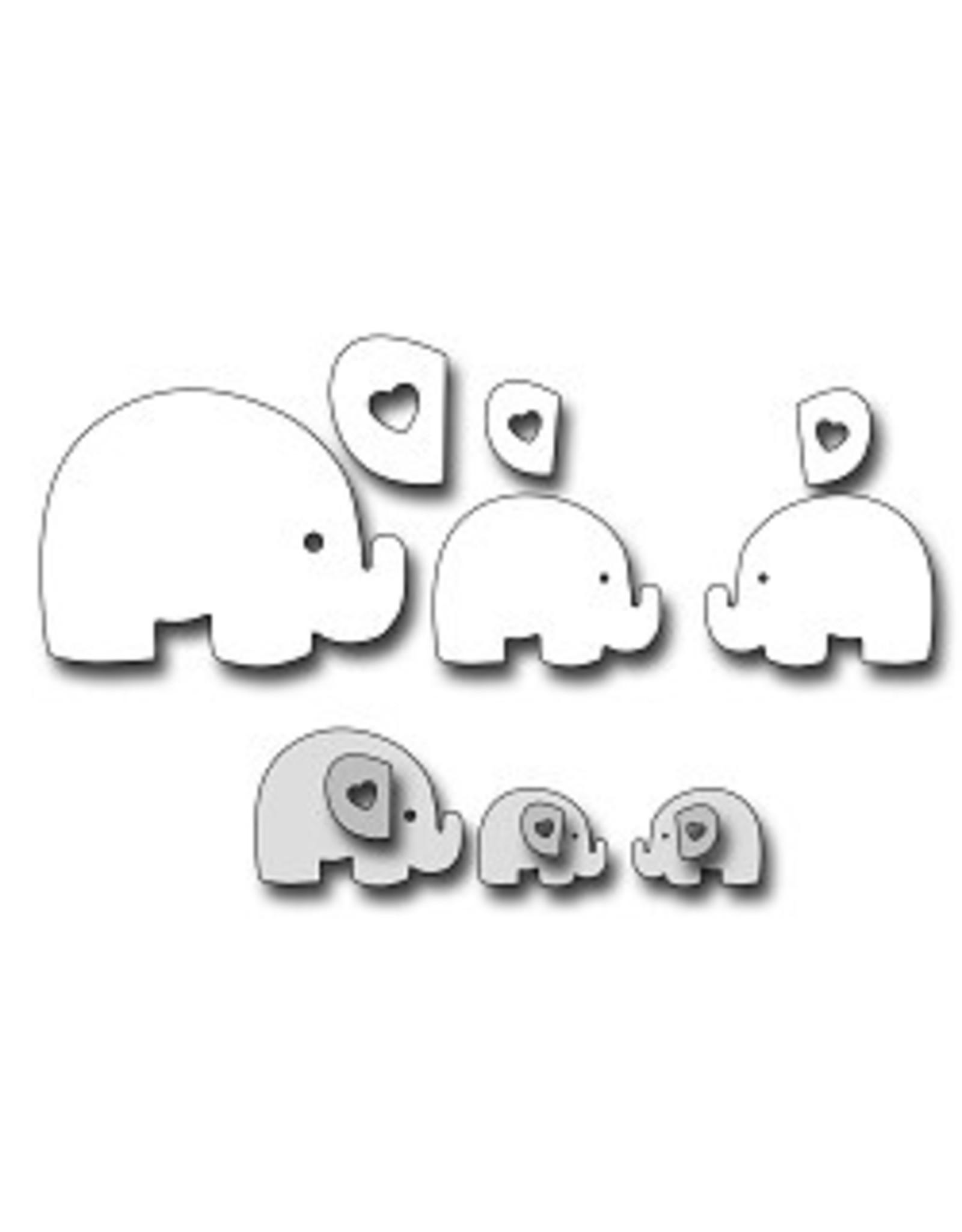 Frantic Stamper Inc Mom & Baby Elephants - Dies