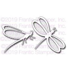 Frantic Stamper Inc Brushstroke Dragonflies - Dies