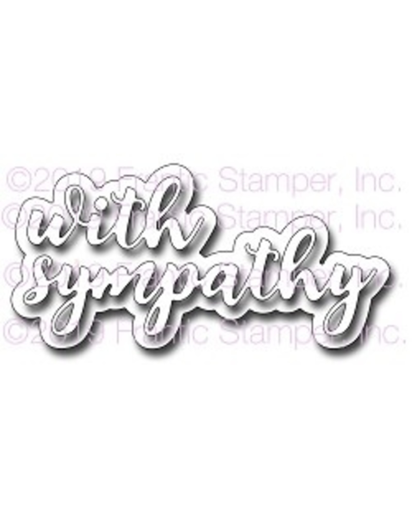 Frantic Stamper Inc Layered With Sympathy - Die