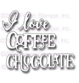 Frantic Stamper Inc I Love Coffee & Chocolate - Die