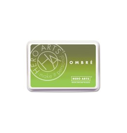 Hero Arts Ombre Ink Pad - Lime to Forever Green (30%)