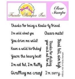 Frantic Stamper Inc Wild Sentiments - Clear Stamp Set