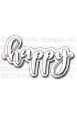 Frantic Stamper Inc Giant Layered Happy - Die
