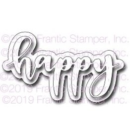 Frantic Stamper Inc Giant Layered Happy - Die