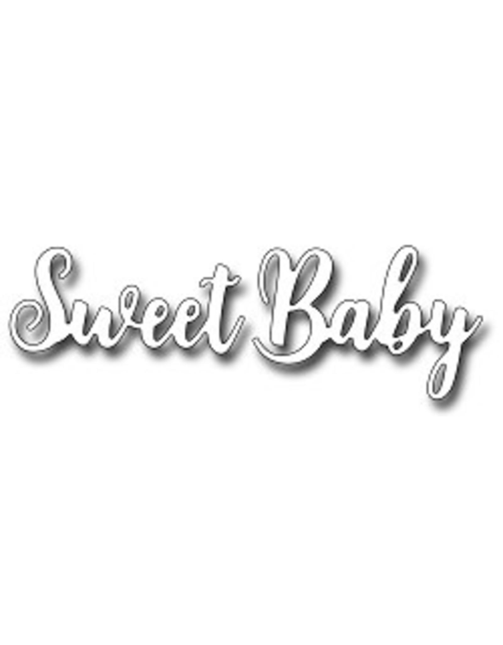 Frantic Stamper Inc Brush Script Sweet Baby - Die