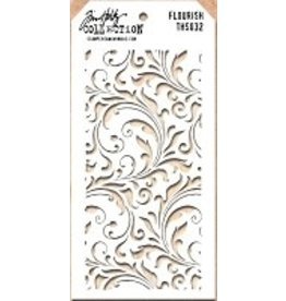 Stampers Anonymous Flourish - Layering Stencil