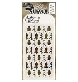 Stampers Anonymous Pines - Layering Stencil