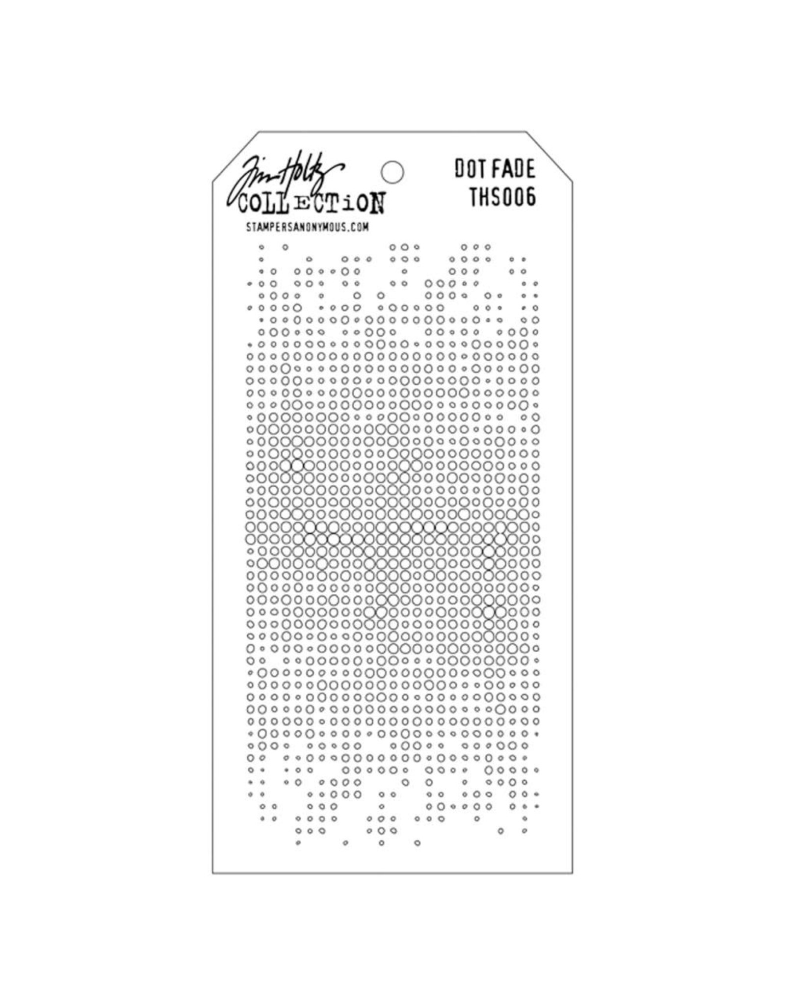 Stampers Anonymous Dot Fade - Layering Stencil