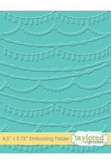 Taylored Expressions Streamers - Embossing Folder