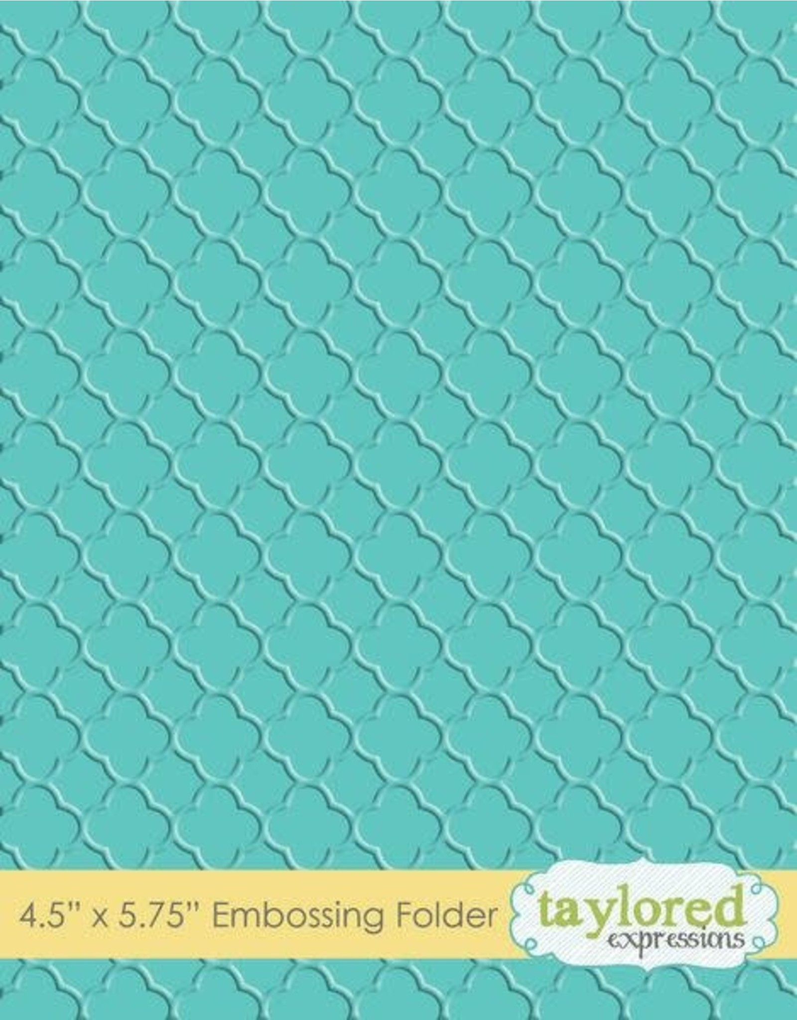 Taylored Expressions Quatrefoil - Embossing Folder