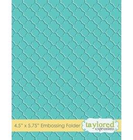 Taylored Expressions Quatrefoil - Embossing Folder