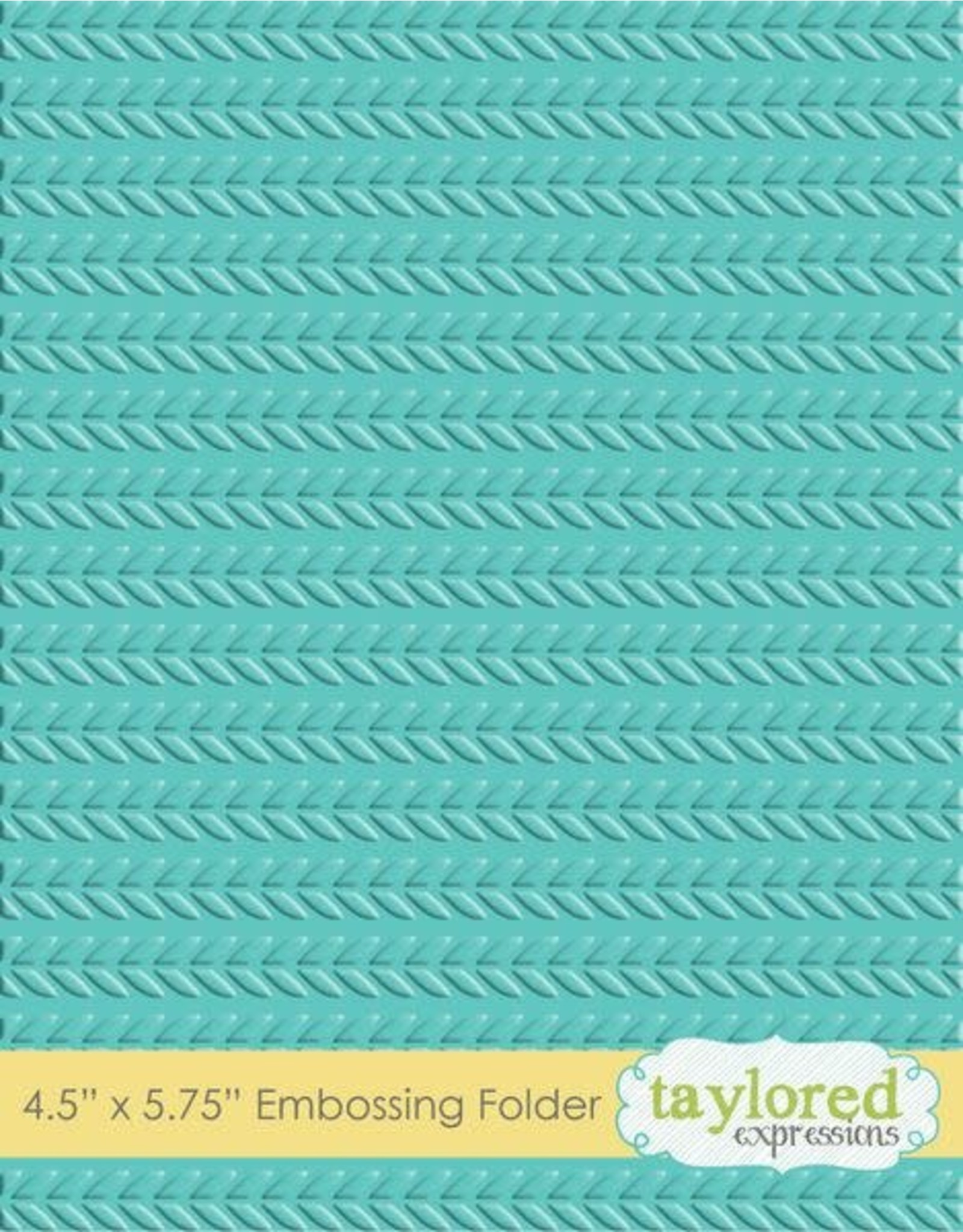 Taylored Expressions Cable Knit - Embossing Folder