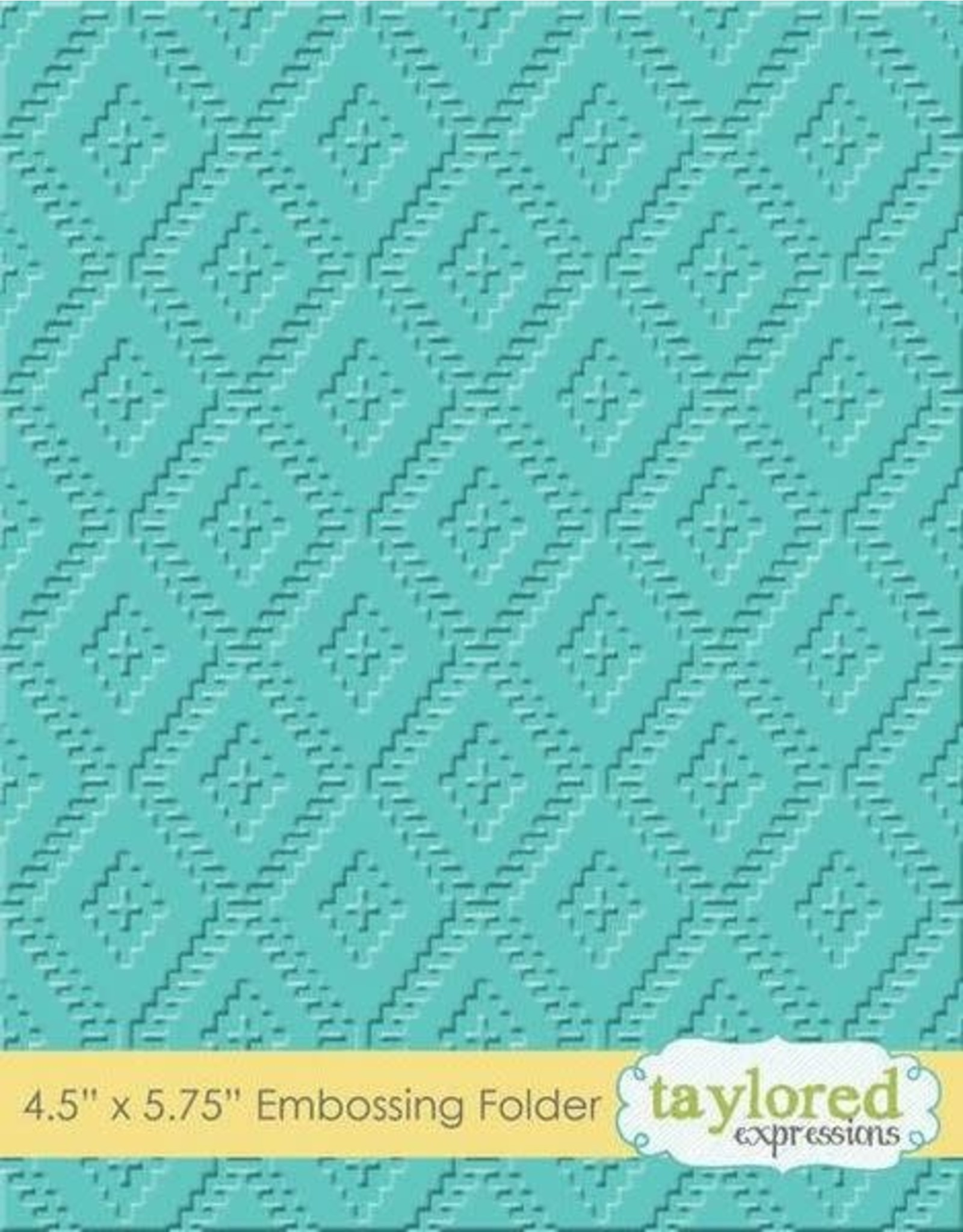 Taylored Expressions Ikat - Embossing Folder