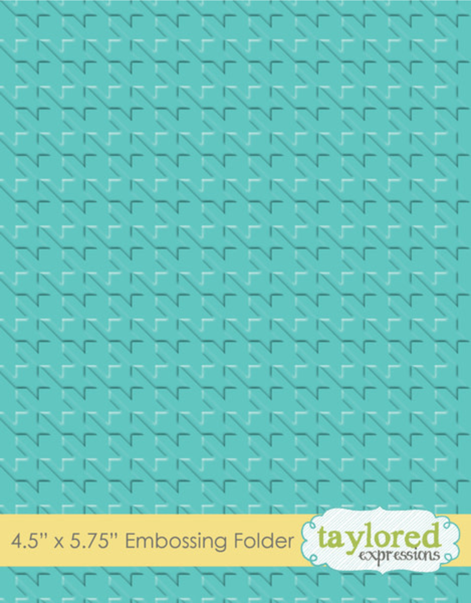 Taylored Expressions Houndstooth - Embossing Folder