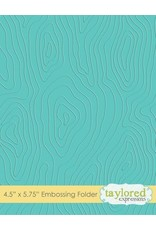 Taylored Expressions Woodgrain - Embossing Folder