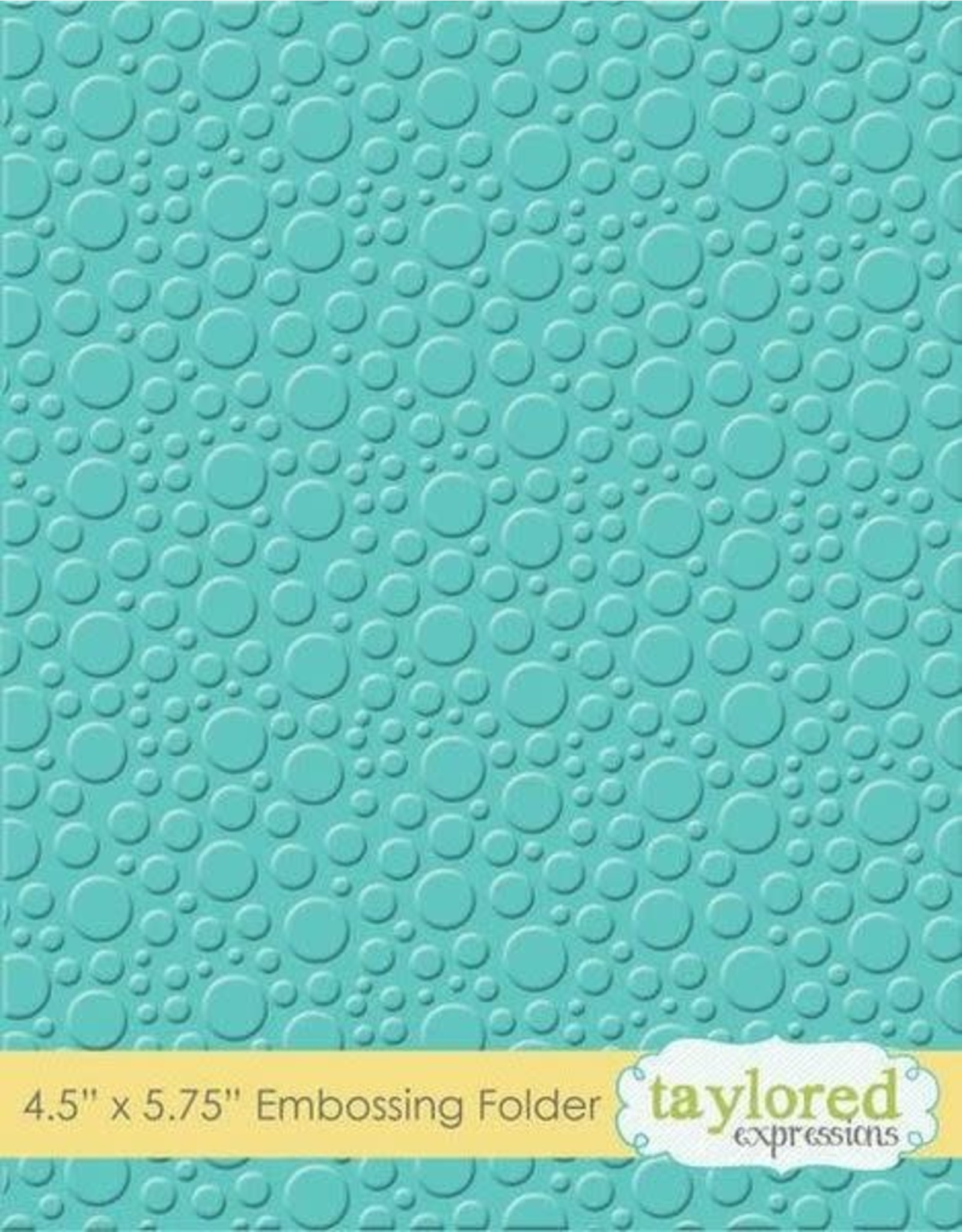 Taylored Expressions Bubbles - Embossing Folder