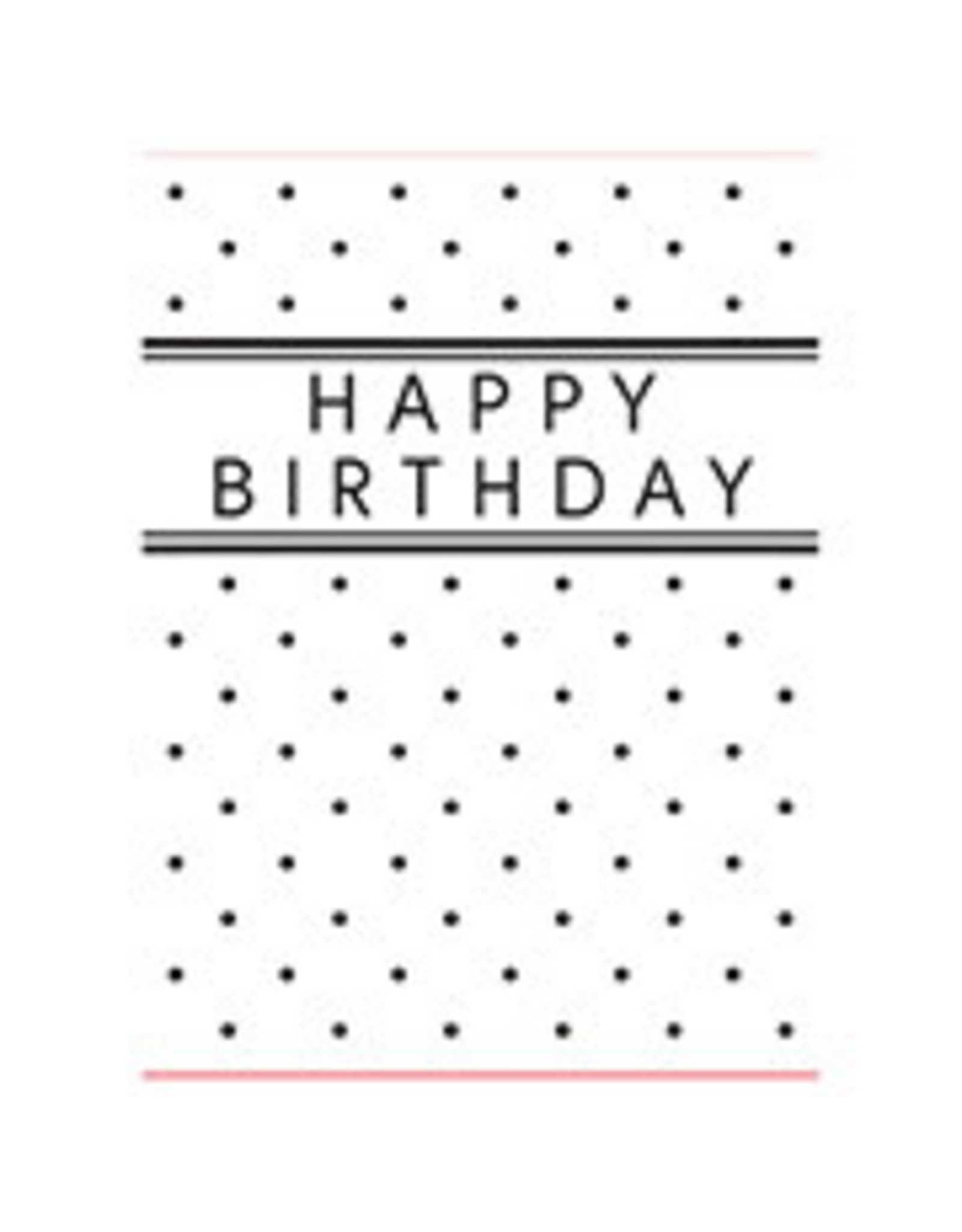 Birthday with Dots - Embossing Folder