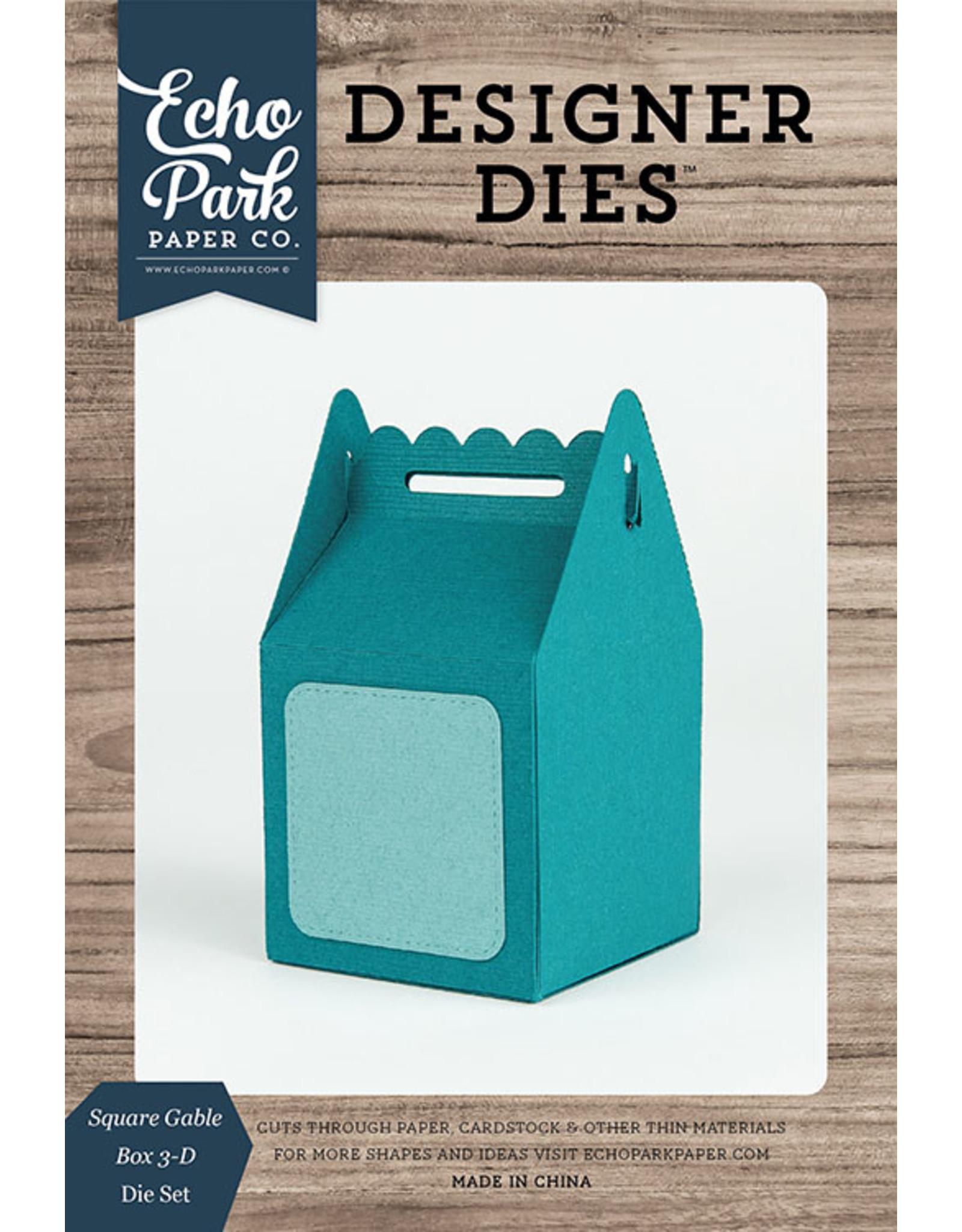 Echo Park Square Gable Box - 3D Die Set