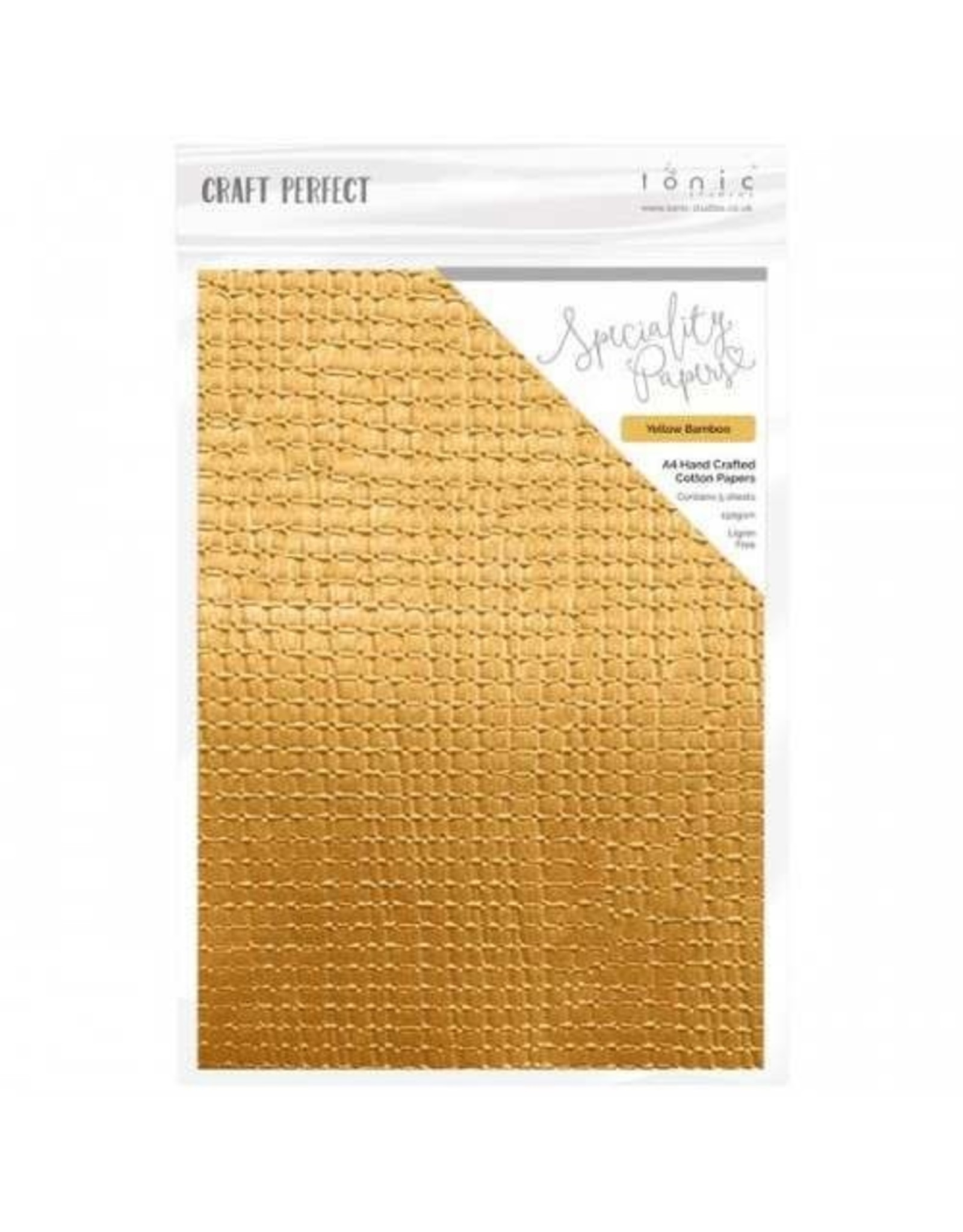 Craft Perfect Yellow Bamboo - A4 Handcrafted Cotton