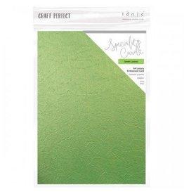 Tonic Studio Green Leaves - A4 Luxury Embossed