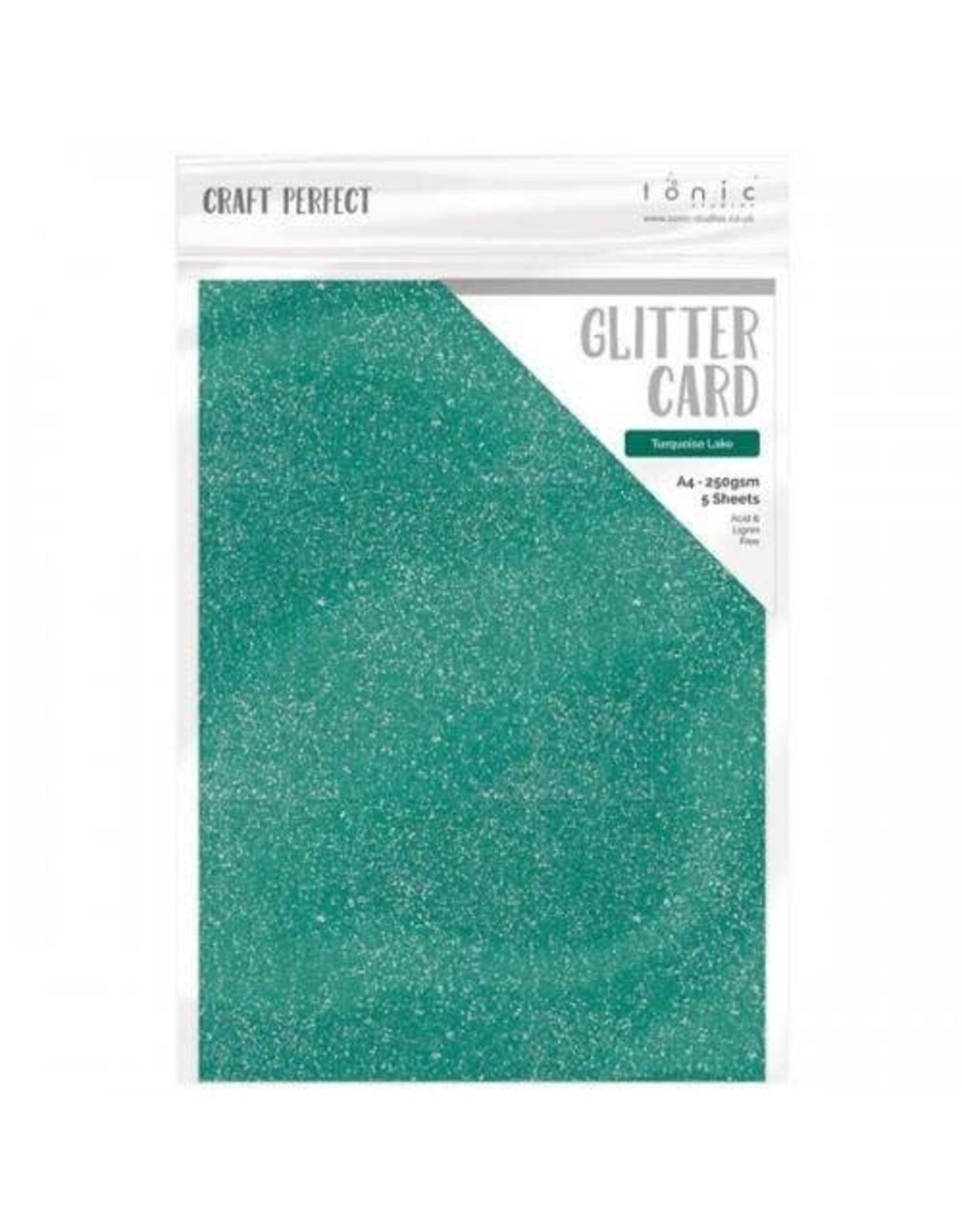 Tonic Studio Turquoise Lake - A4 Glitter Card