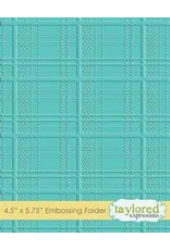 Taylored Expressions Plaid - Embossing Folder