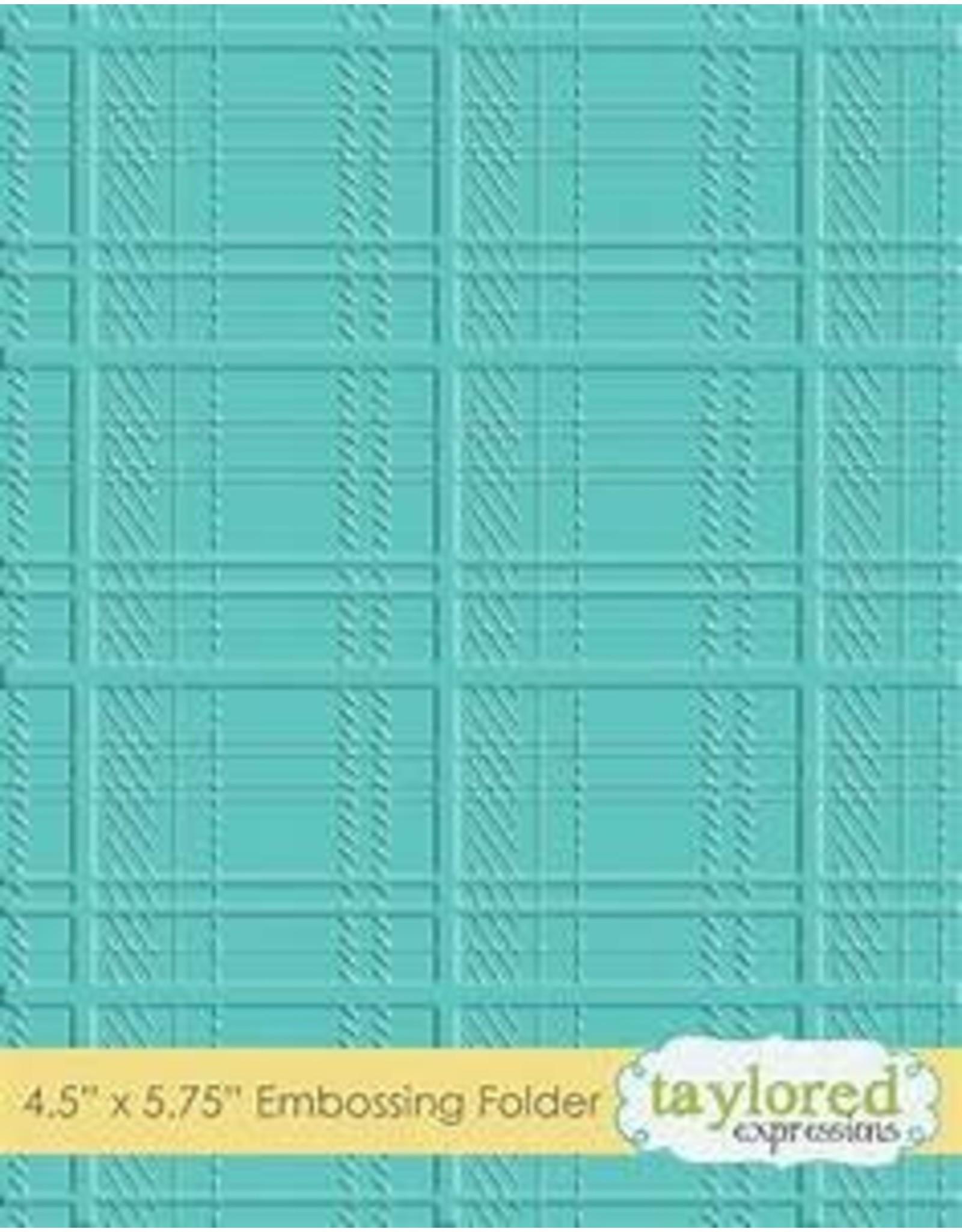 Plaid - Embossing Folder