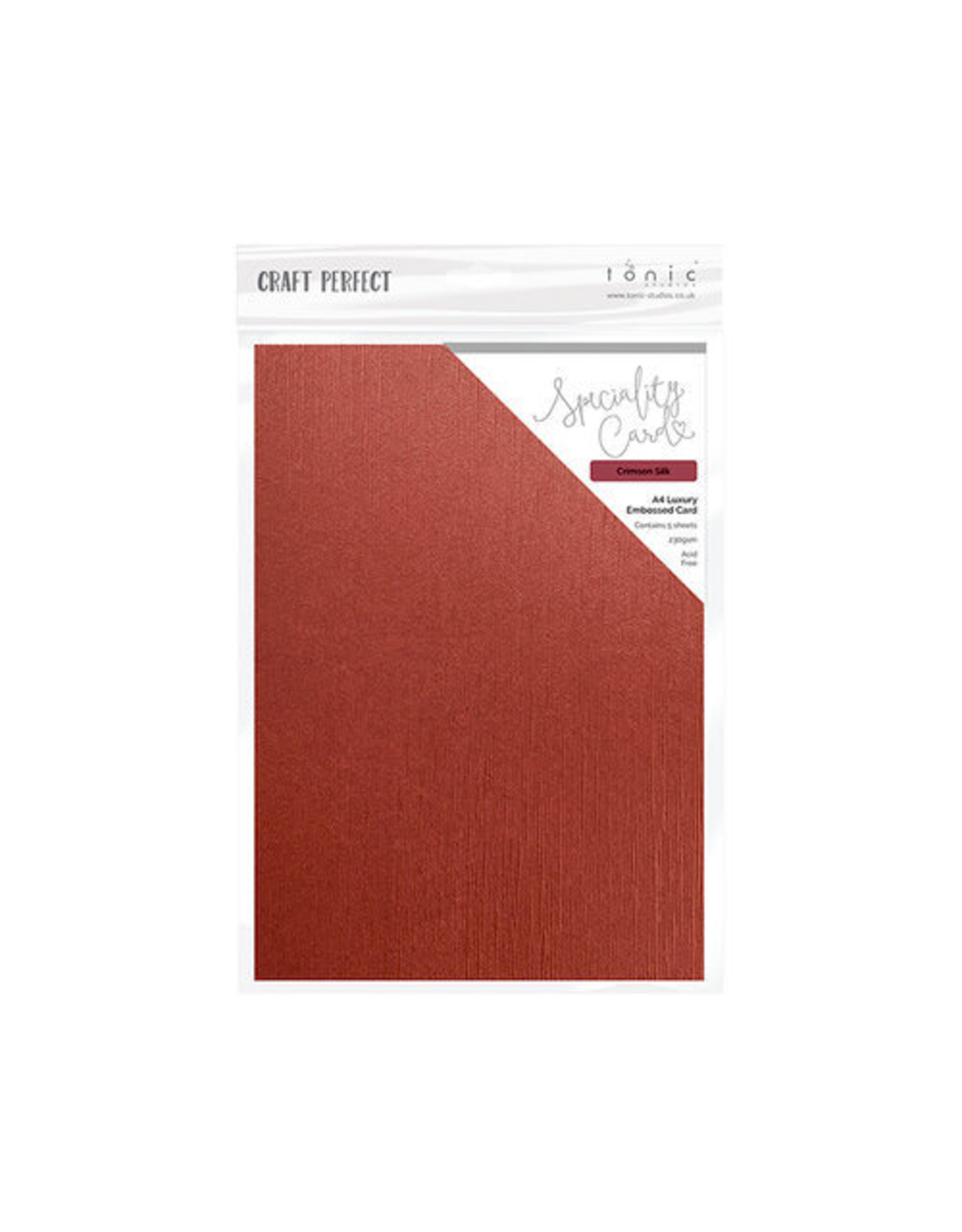 Tonic Studio Crimson Silk - A4 Luxury Embossed