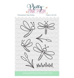 Pretty Pink Posh Darling Dragonflies - Clear Stamp Set