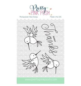 Pretty Pink Posh Hummingbird Thanks - Clear Stamp Set