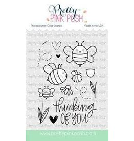 Pretty Pink Posh Bee Friends - Clear Stamp Set
