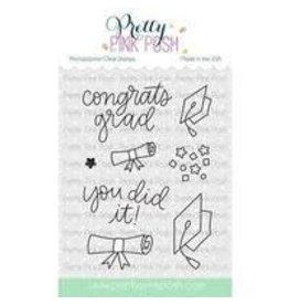 Pretty Pink Posh Congrats Grad - Clear Stamp Set
