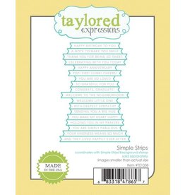 Taylored Expressions Simple Strips - Die Set