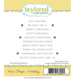 Taylored Expressions Mini Strips (HOLIDAY) - Cling Stamp Set