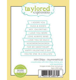 Taylored Expressions Mini Strips Asymmetrical - Die Set