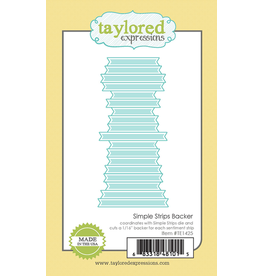 Taylored Expressions Simple Strips Backer - Die Set