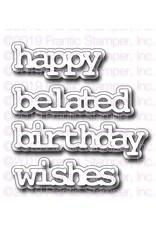 Frantic Stamper Inc Typewriter Birthday Words & Shadows - Dies