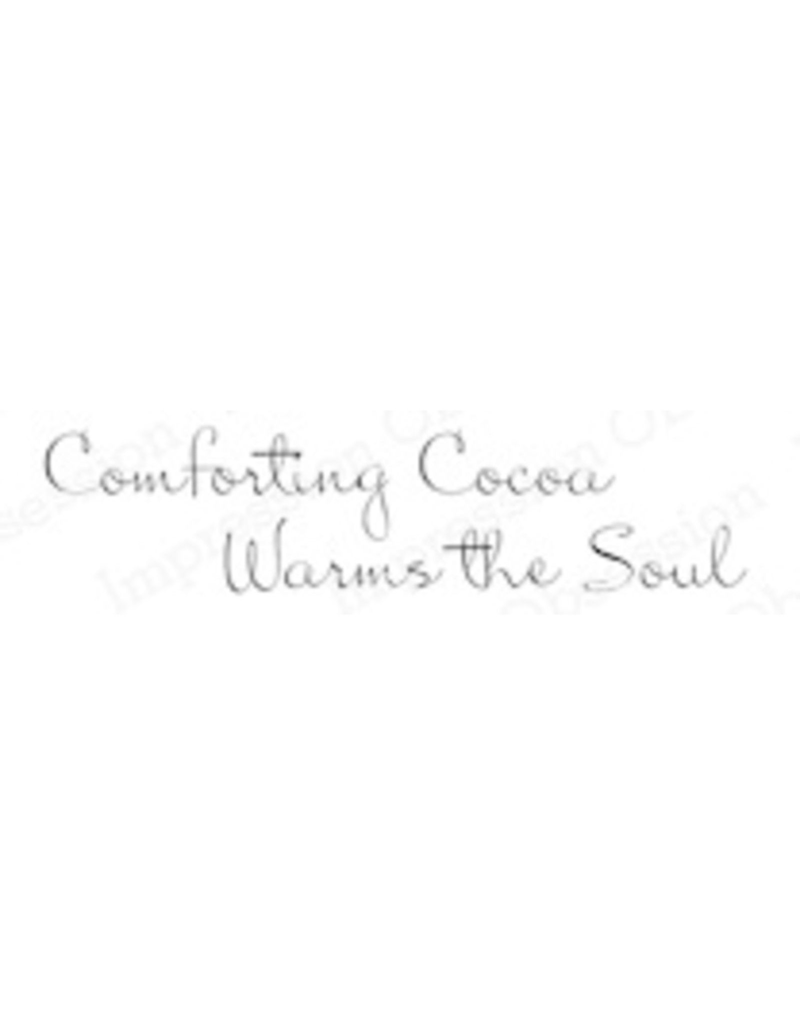 Impression Obsession Comforting Cocoa - Cling Stamp