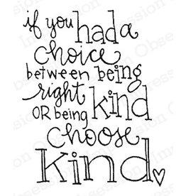 Impression Obsession Choose Kind - Cling Stamp
