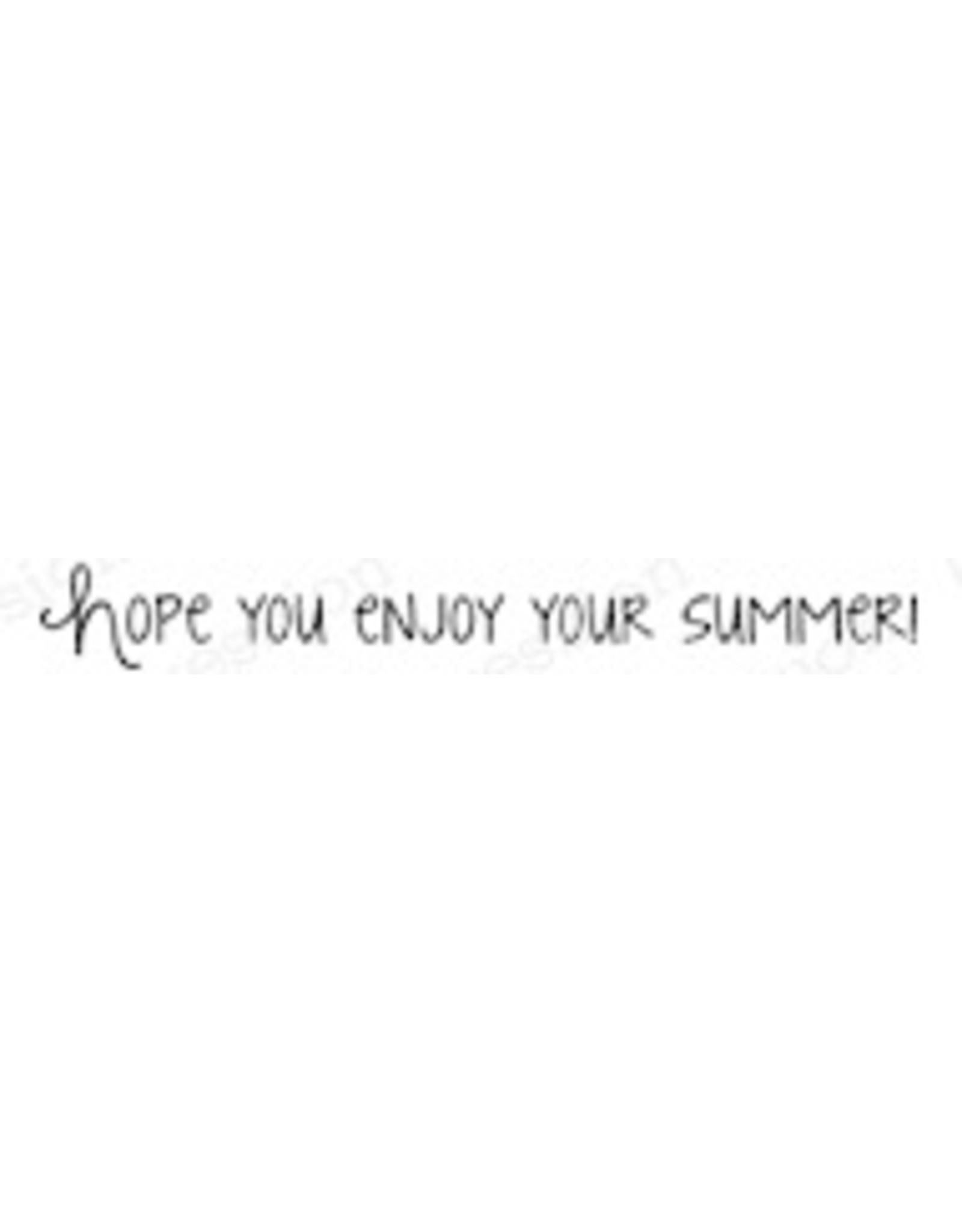 Impression Obsession Enjoy Summer - Cling Stamp