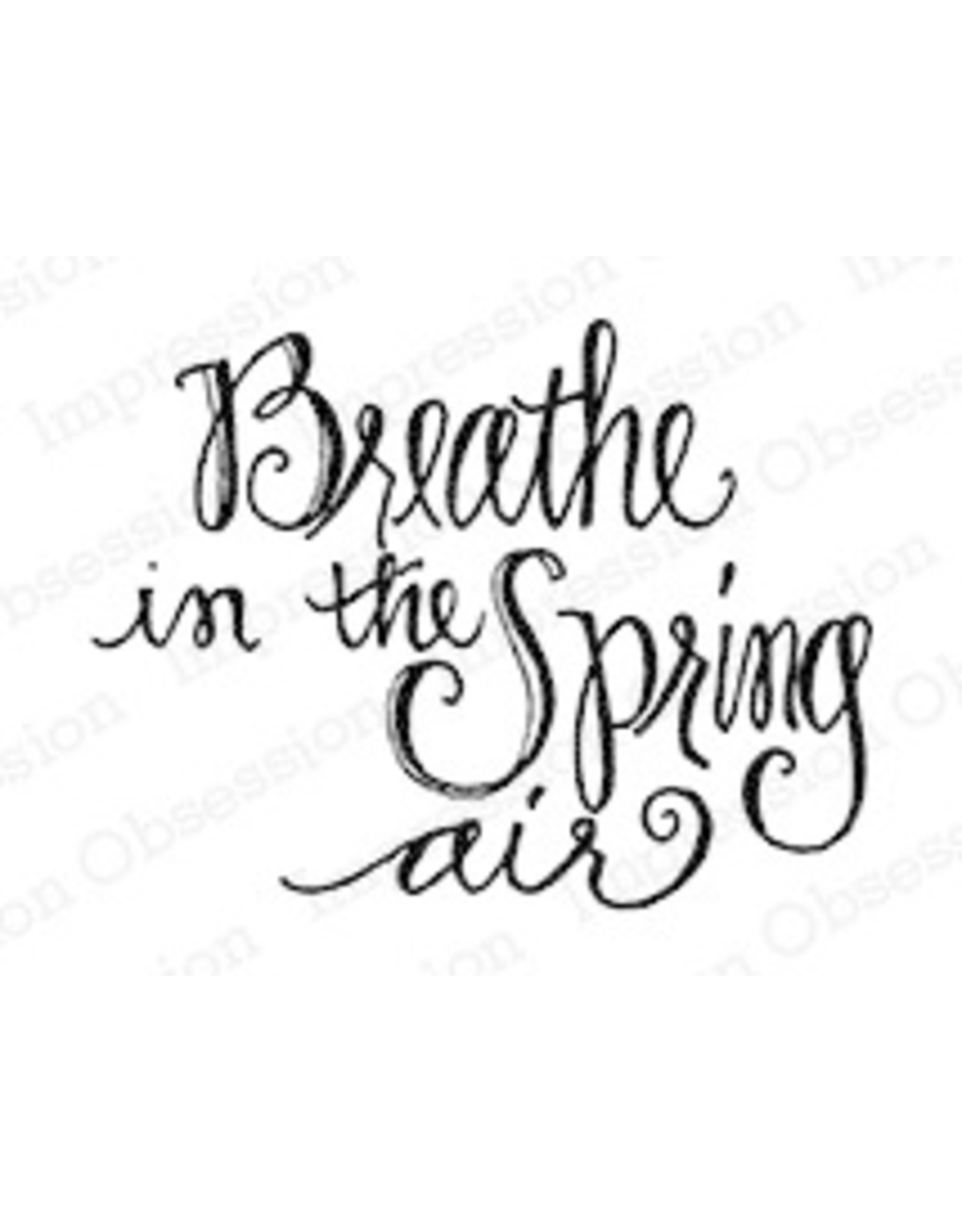 Impression Obsession Oval Word - Spring Air - Cling Stamp