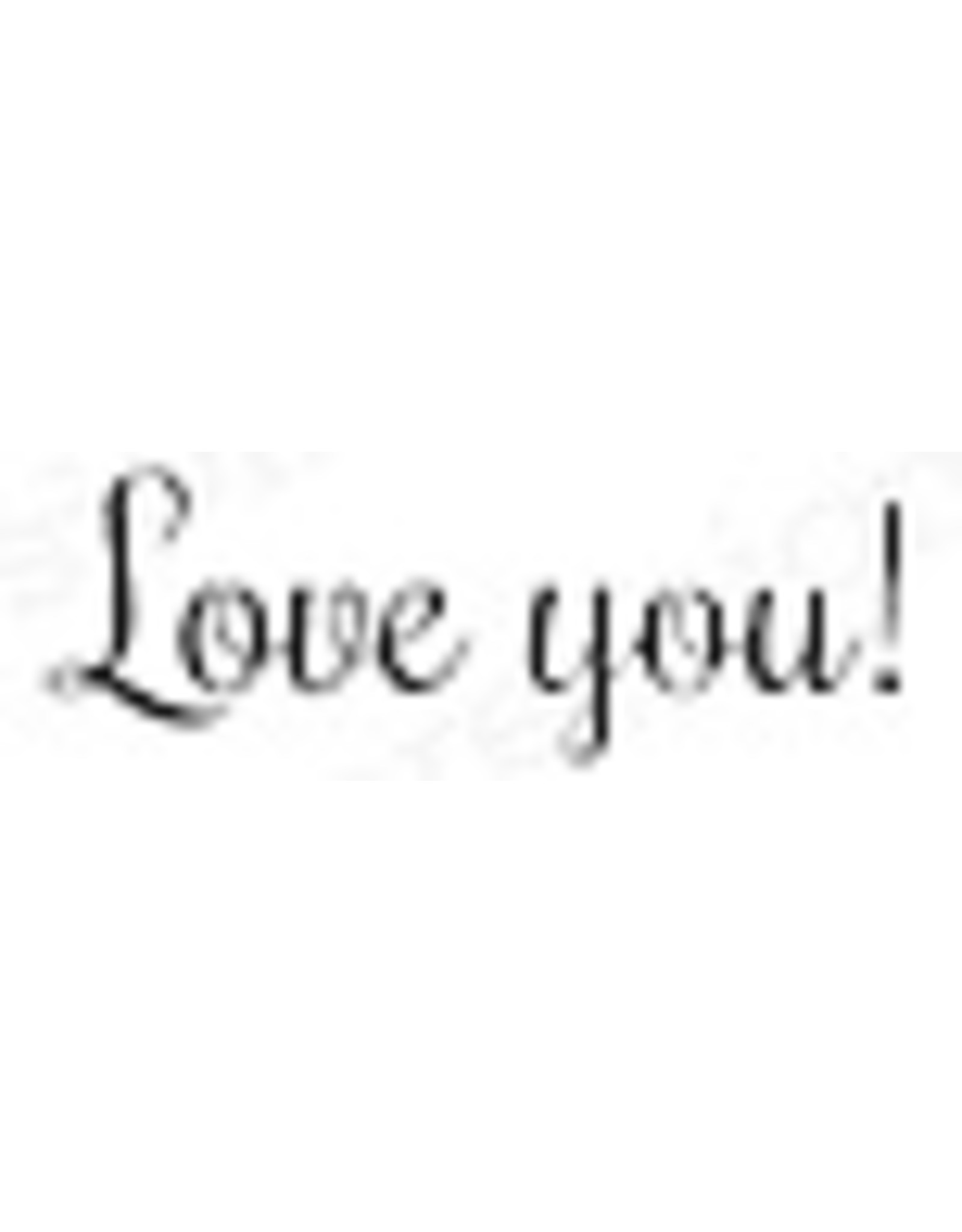 Impression Obsession Love You - Cling Stamp